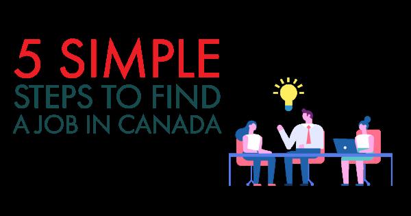find job in Canada
